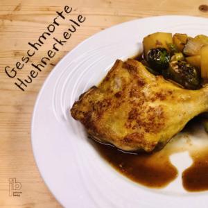 Johann Barsy kocht-geschmorte Hühnerkeule
